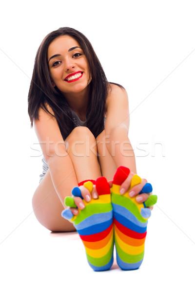 Amore colorato calze sincero sorriso Foto d'archivio © Lighthunter