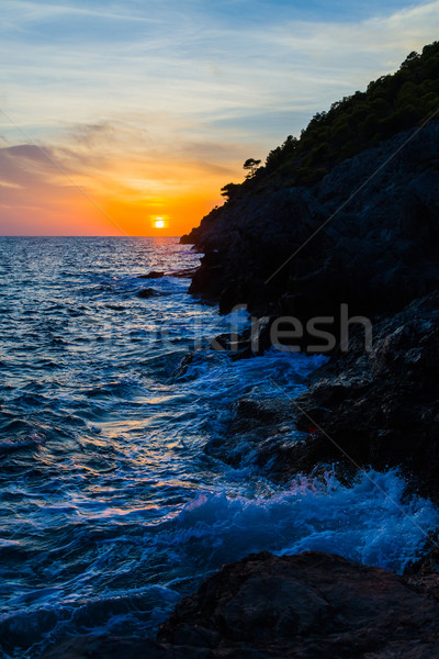 Kefalonian Sunset in the Ionian sea Stock photo © Lighthunter