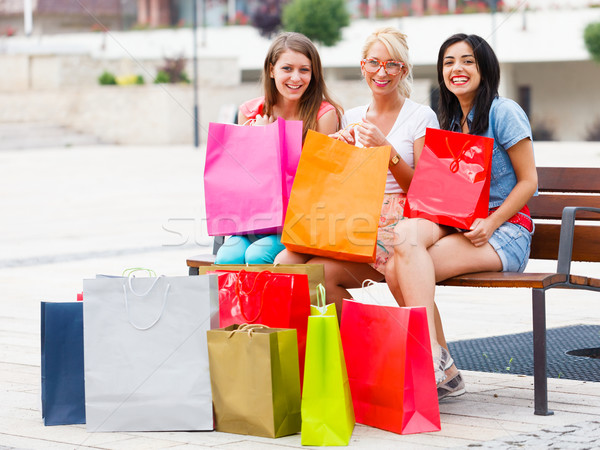 This Happens When Women Go Shopping Together Stock photo © Lighthunter