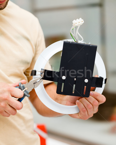 Electrician with Pliers Stock photo © Lighthunter