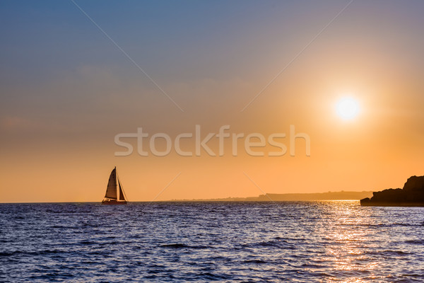 Sailing home from distant waters Stock photo © Lighthunter