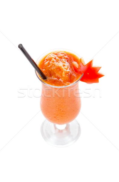 Finom paradicsom smoothie kilátás izolált fehér Stock fotó © Lighthunter