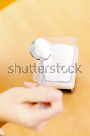 Stock photo: Measuring sugar