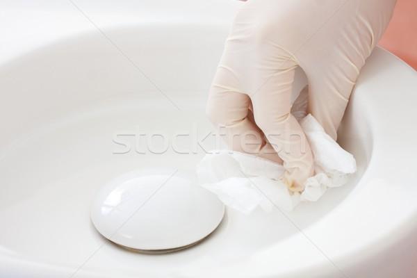 洗浄 冗談 歯科 看護 手袋 ストックフォト © Lighthunter