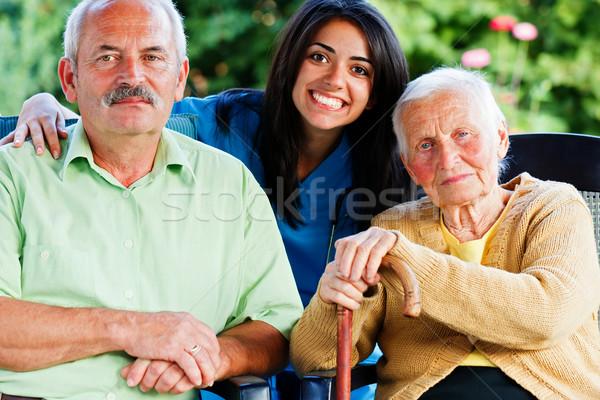 Nurse with Elderly People Stock photo © Lighthunter