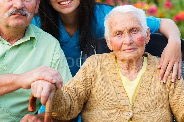 Elderly Lady with Alzheimer's Disease Stock photo © Lighthunter