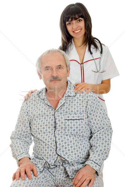Senior saúde jovem sorridente amavelmente em pé Foto stock © Lighthunter