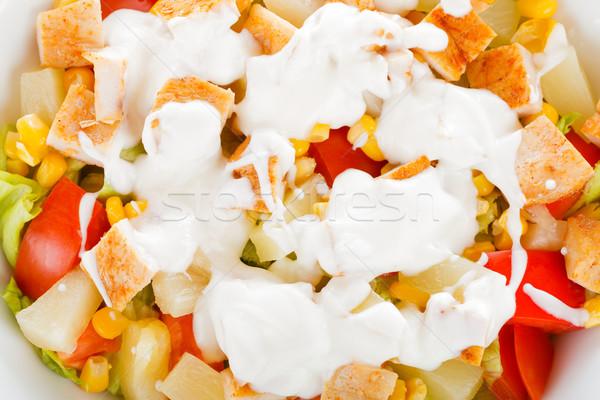 シーザーサラダ クローズアップ 新鮮な 健康 材料 乳がん ストックフォト © Lighthunter