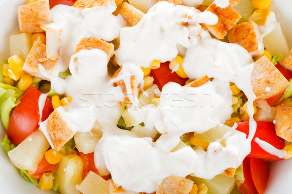 Ensalada cesar primer plano frescos saludable ingredientes mama Foto stock © Lighthunter