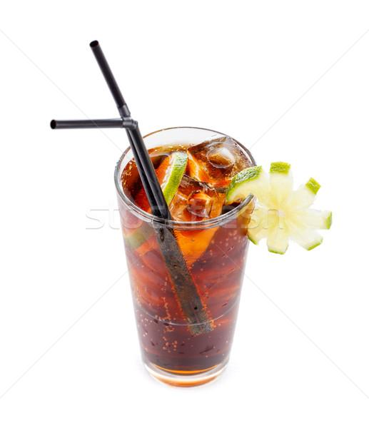 Whiskey kóla egyszerű koktél homályos ital Stock fotó © Lighthunter