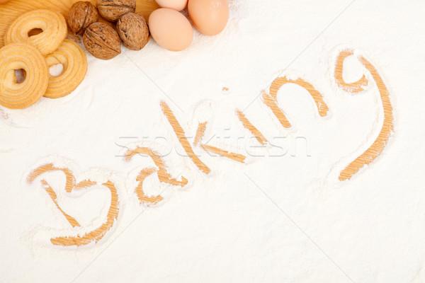 Stock photo: Written in flour - Baking