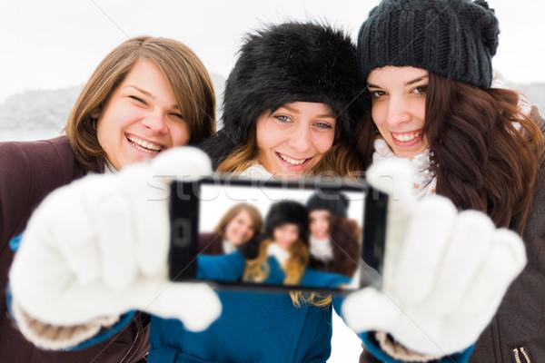 Girls Taking a Selfie Stock photo © Lighthunter