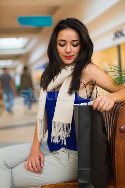 Ne küçücük sürpriz burada sabırsız kadın Stok fotoğraf © Lighthunter