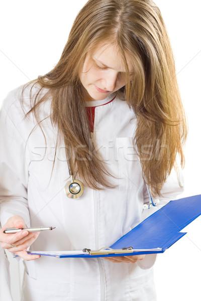 Inspecting medical chart Stock photo © Lighthunter