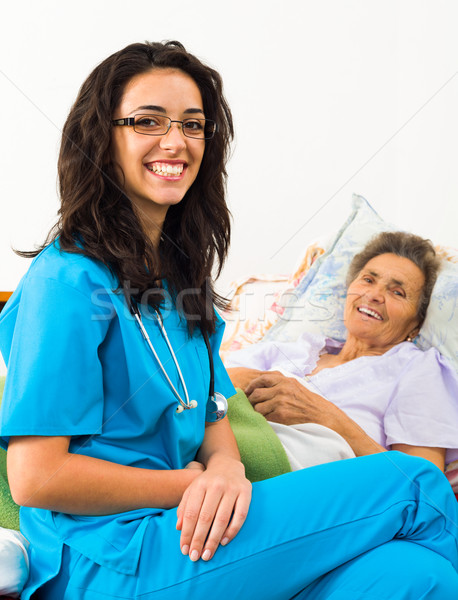 Helpful Nurses with Patients Stock photo © Lighthunter