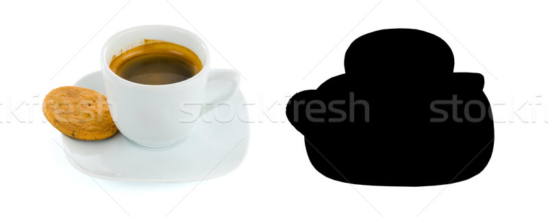 Piccolo caffè fresche cookie mug bianco Foto d'archivio © Lighthunter
