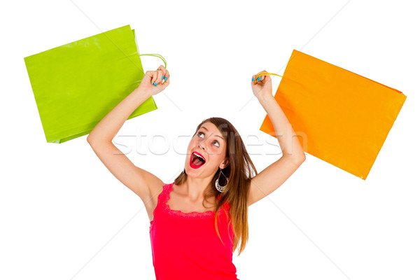 Feeling awesome after shopping Stock photo © Lighthunter