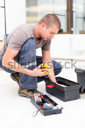 Handyman caixa de ferramentas necessário ferramentas caixa Foto stock © Lighthunter