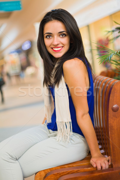 Sonrisa hermosa dama retrato mujer hermosa sonriendo Foto stock © Lighthunter