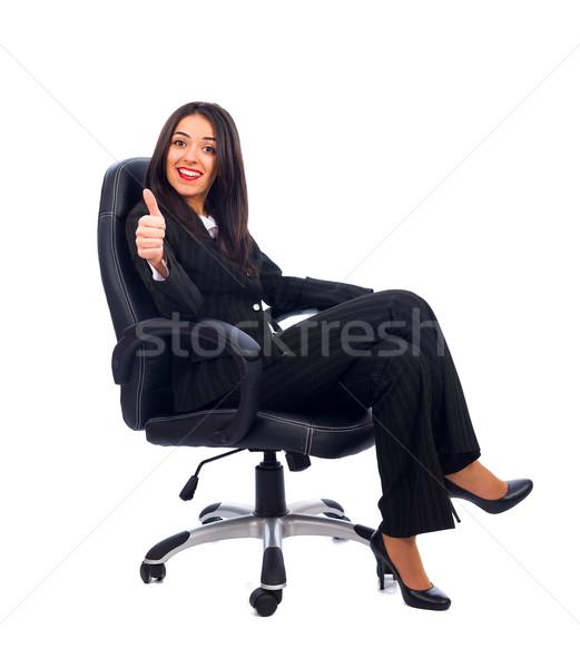Baas idee tevreden ceo vrouw Stockfoto © Lighthunter