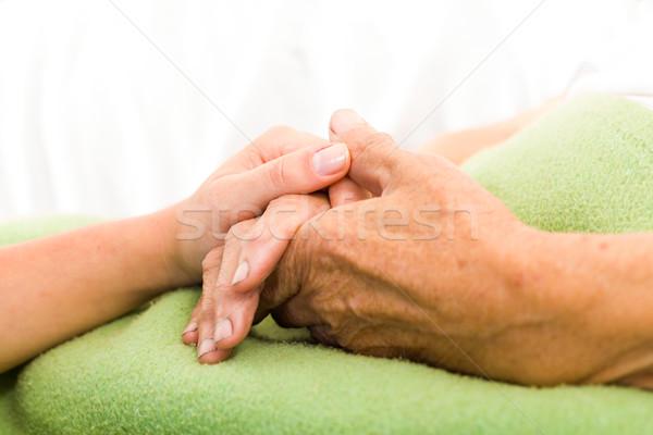 Ayudar necesitado enfermera ancianos Foto stock © Lighthunter