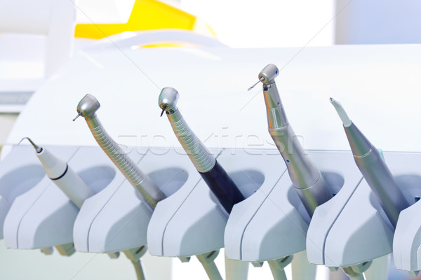 Dentist 's tools - drills, air and ultrasonic scaler Stock photo © Lighthunter