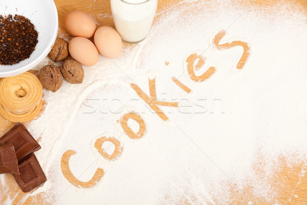 Written in flour - cookies Stock photo © Lighthunter
