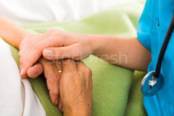 Nurses Helping Elderly  Stock photo © Lighthunter
