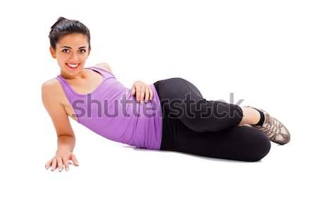 Menina senhora piso esportes terno Foto stock © Lighthunter