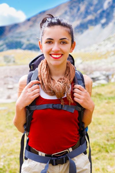 Joyful Alpinist Woman Stock photo © Lighthunter