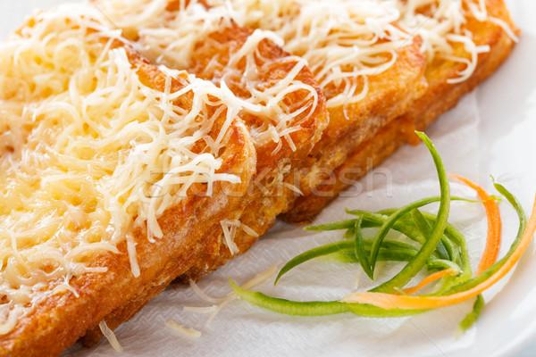Hungarian Toast - Egg coated bread slice Stock photo © Lighthunter