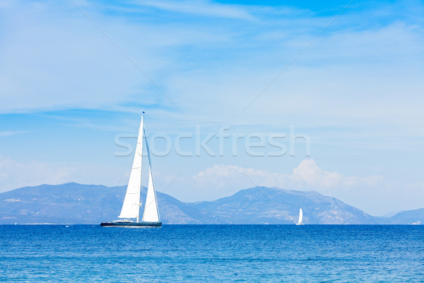 Retour hybride voile yacht choix moteur Photo stock © Lighthunter