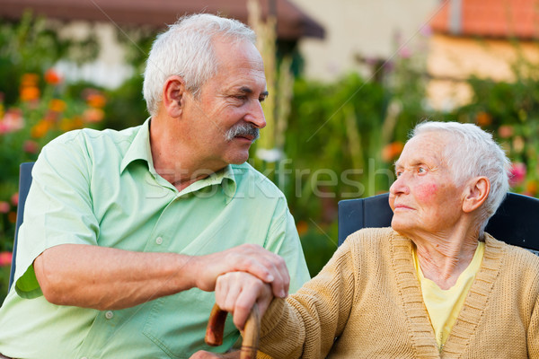 Senior People in Nursing Home Stock photo © Lighthunter