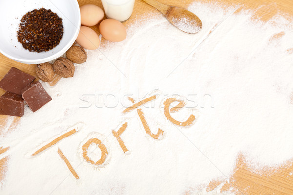 Written in flour - torte Stock photo © Lighthunter