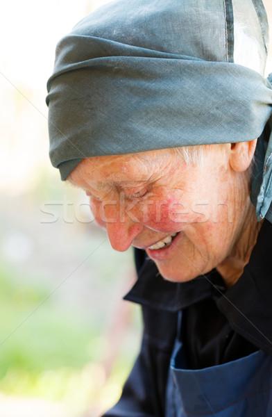 Sorrir idoso senhora preto sorridente amavelmente Foto stock © Lighthunter