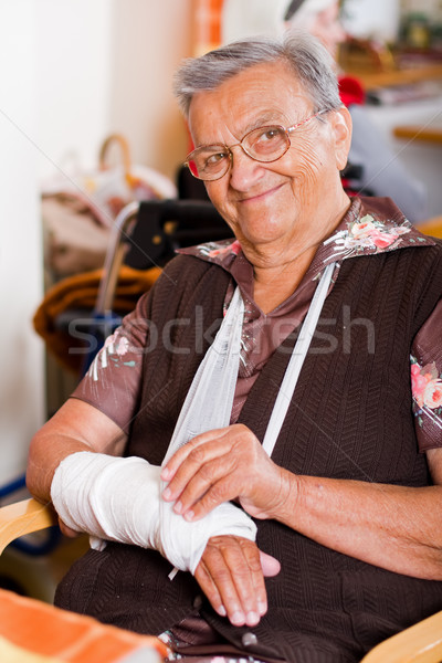 Old woman in a nursing home Stock photo © Lighthunter