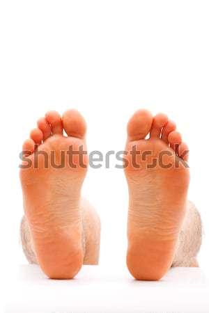 Hideg láb férfi izolált fehér tipikus Stock fotó © Lighthunter