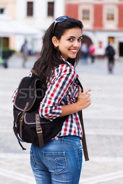 Happy Student With Backpack Stock photo © Lighthunter