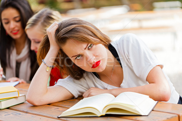 Frustrated Student before Exams Stock photo © Lighthunter