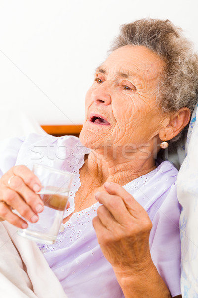 Medication Given to Elderly Stock photo © Lighthunter