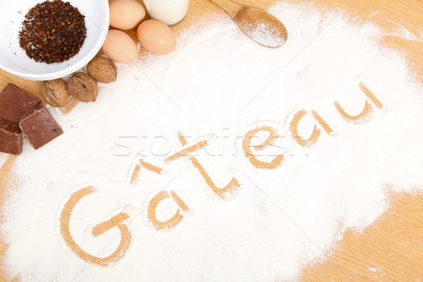 Written in flour - gateau Stock photo © Lighthunter