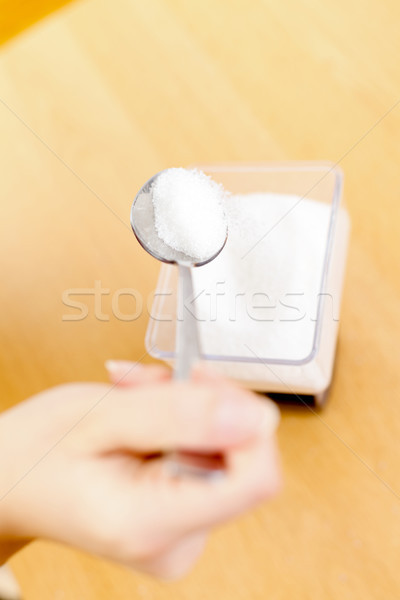 Stock photo: Pouring sugar
