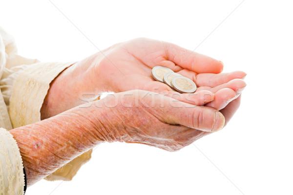 Yaşlı para değil yeterli bekleme Stok fotoğraf © Lighthunter