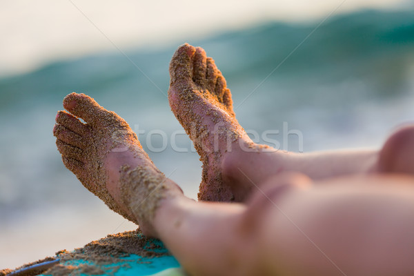 Resting on the shores of the Mediterranian sea Stock photo © Lighthunter