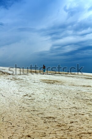Barren land and stormy skies Stock photo © lightkeeper