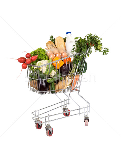 Groceries in shopping cart Stock photo © lightkeeper