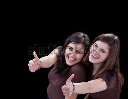счастливым подростков знак стороны студент Сток-фото © lightkeeper