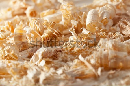 Wooden shavings on the workbench Stock photo © lightkeeper