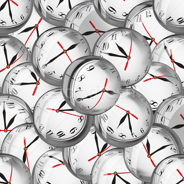 Clocks in bubbles - deadlines and time management concept Stock photo © lightkeeper