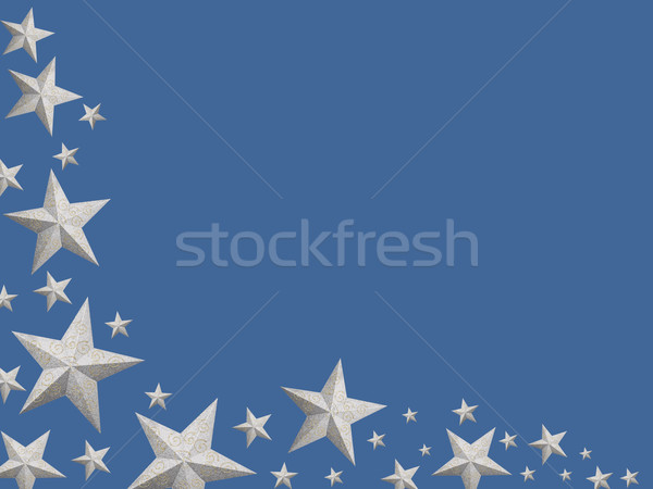 Silver Christmas stars (isolated) Stock photo © lightkeeper